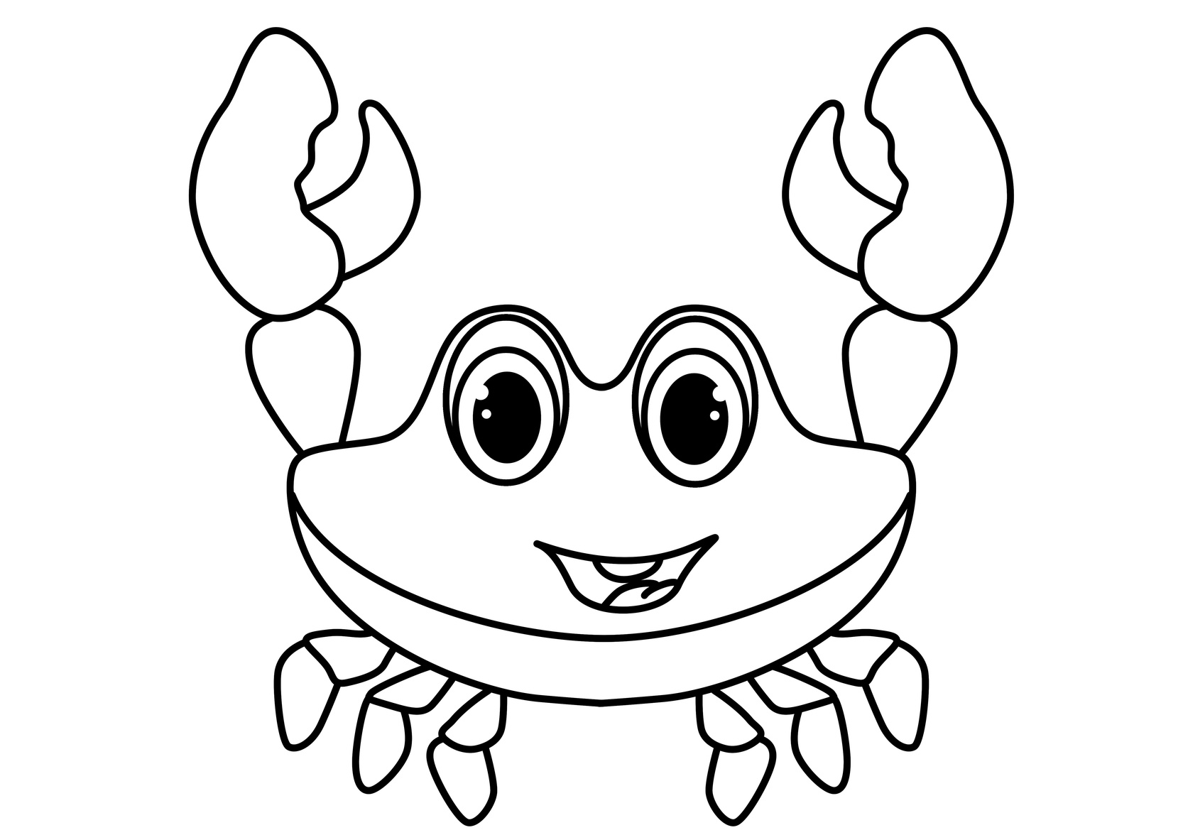 cute crab coloring pages jellyfish clipart black and white free download on coloring cute pages crab