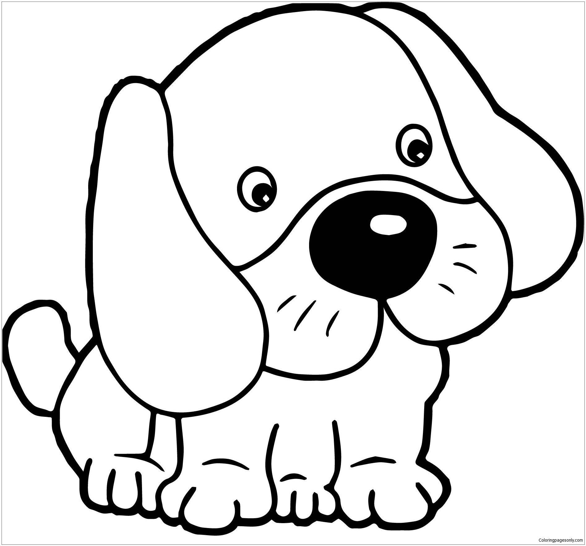 cute dogs coloring pages cute puppy coloring pages getcoloringpagescom cute dogs coloring pages