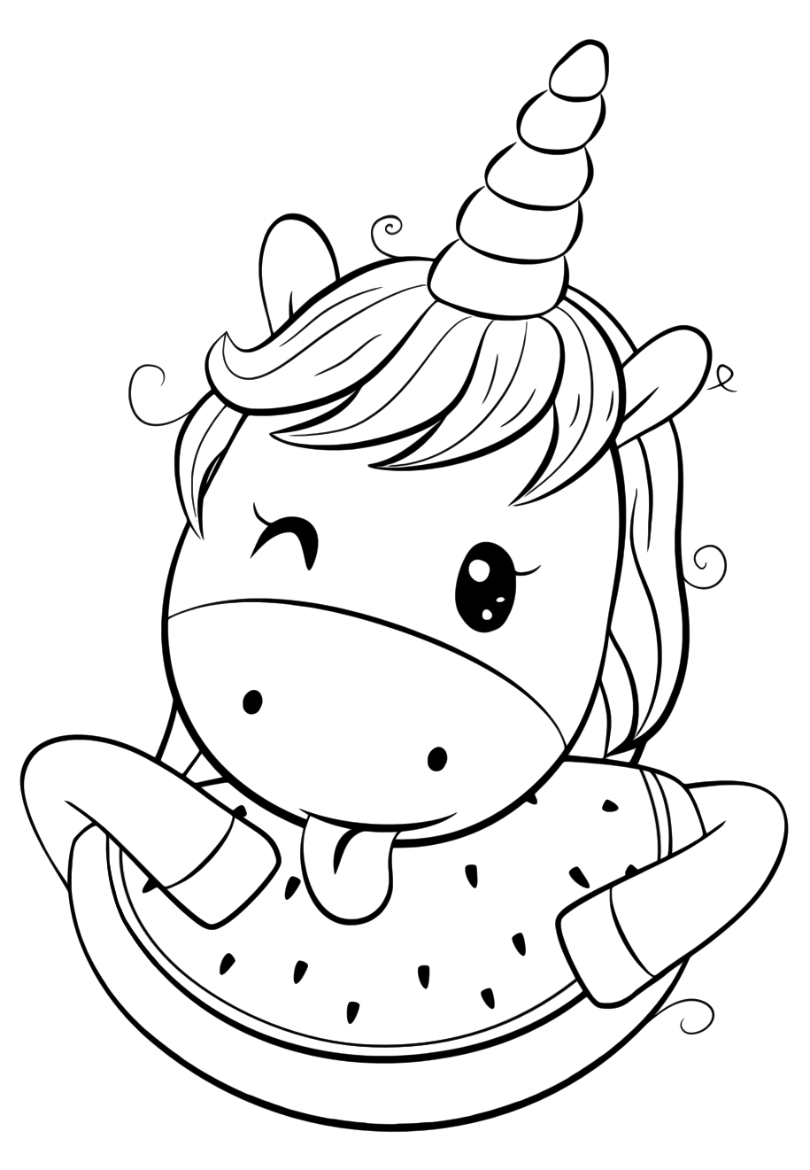 cute easy unicorn coloring pages cute unicorn cartoon cuteunicornclub cute pages unicorn coloring easy