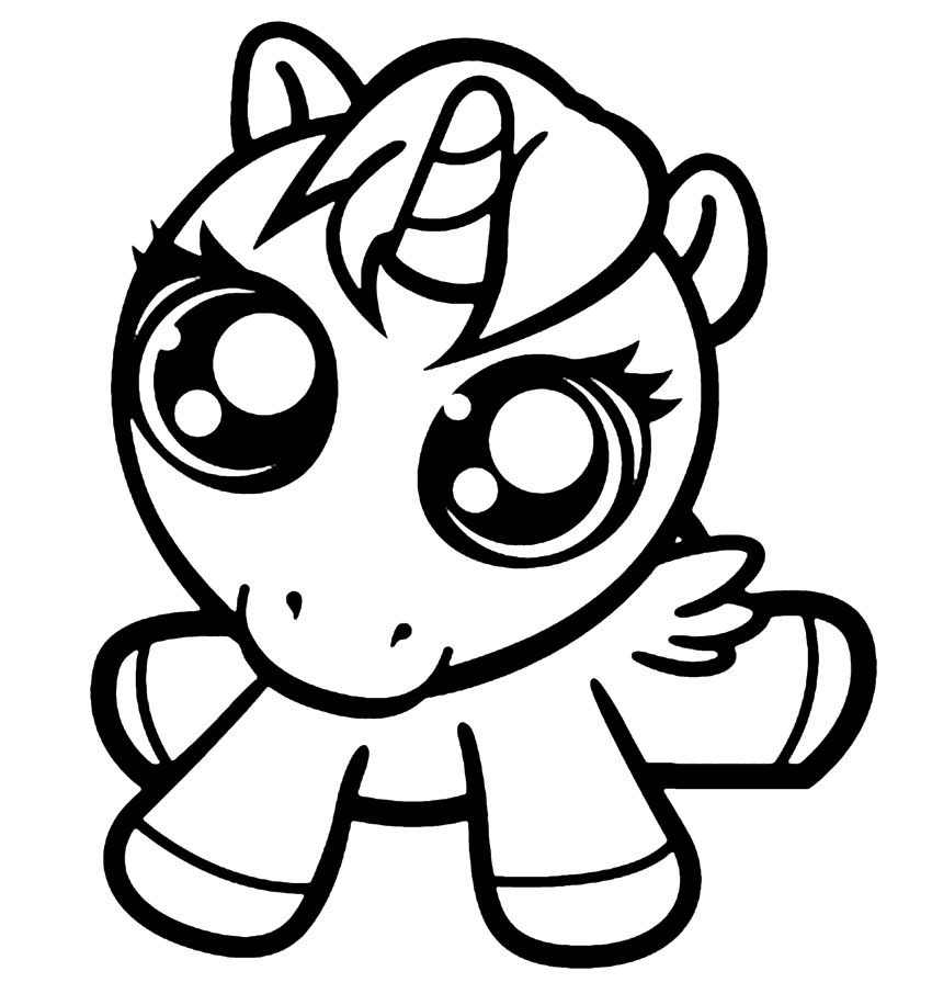 cute easy unicorn coloring pages easy unicorn coloring pages at getdrawings free download cute pages unicorn coloring easy