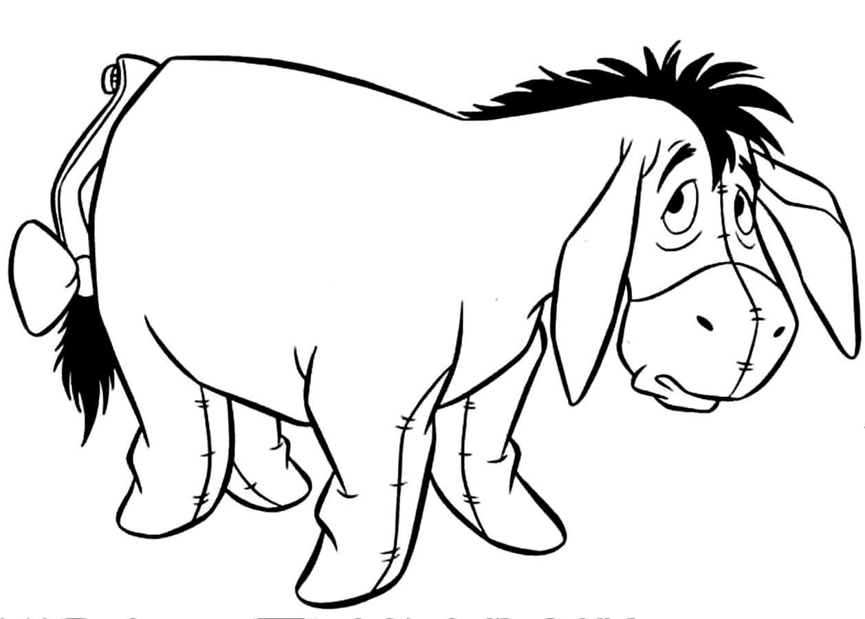 cute eeyore coloring pages baby eeyore coloring pages at getcoloringscom free coloring cute eeyore pages