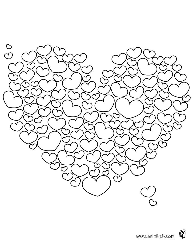 cute heart coloring pages drawings of easy hearts clipartsco cute coloring pages heart
