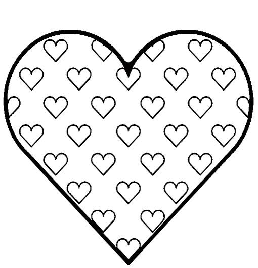 cute heart coloring pages looks like it would take a lot of time but would be cute heart coloring cute pages