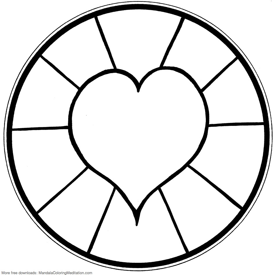 cute heart coloring pages printable children coloring page heart mandala 4 a pages coloring cute heart