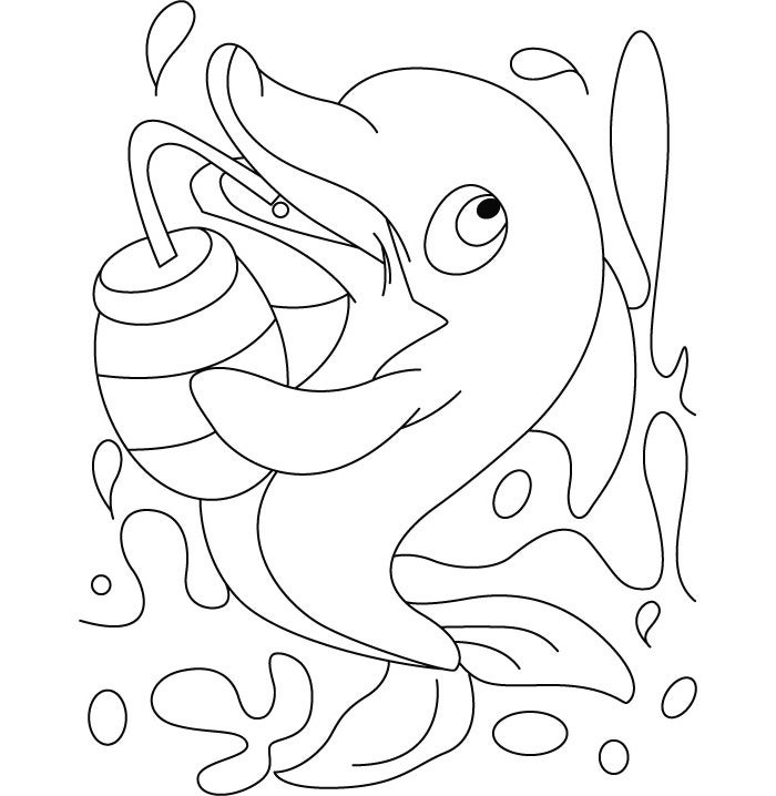 Cute printable dolphin coloring pages