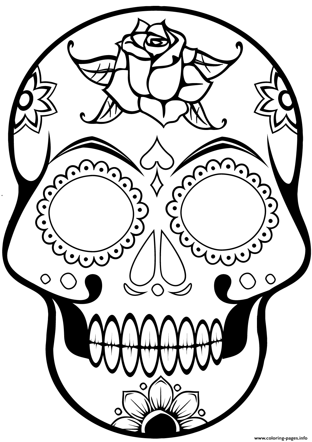 cute sugar skull coloring pages day of the dead sugar skull coloring page free printable cute sugar coloring pages skull