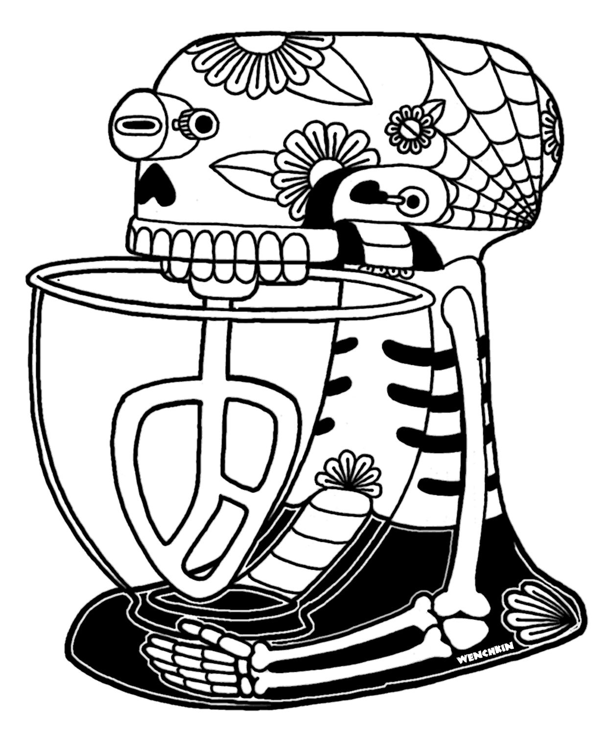 cute sugar skull coloring pages yucca flats nm wenchkin39s coloring pages mixer day pages sugar skull coloring cute