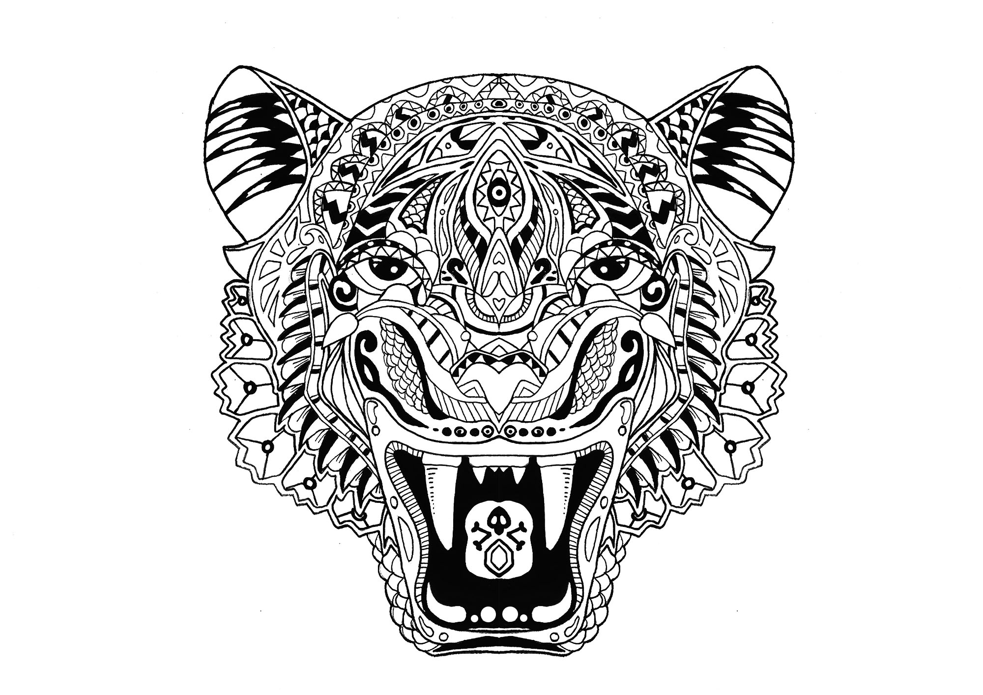 cute tiger face coloring pages baby tiger coloring pages at getdrawings free download tiger coloring face pages cute