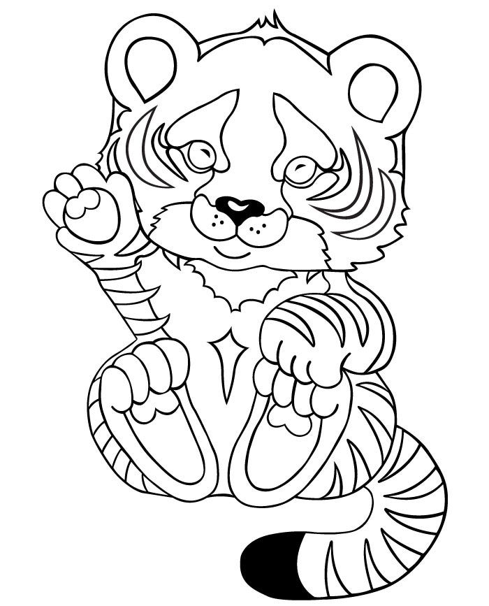 cute tiger face coloring pages realistic tiger coloring pages at getcoloringscom free cute face tiger pages coloring