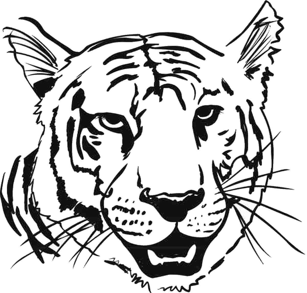 cute tiger face coloring pages tiger coloring pages cute face pages coloring tiger