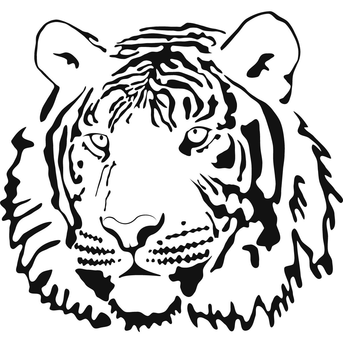 Cute tiger face coloring pages