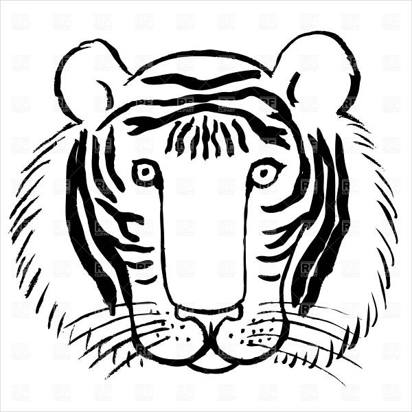 cute tiger face coloring pages tiger face coloring pages getcoloringpagescom face pages tiger coloring cute
