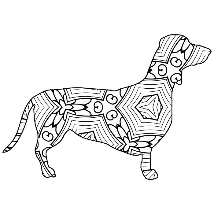dachshund coloring pictures 30 free printable geometric animal coloring pages the coloring dachshund pictures