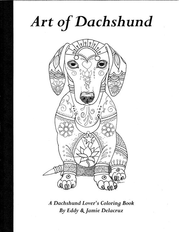dachshund coloring pictures art of dachshund coloring book volume no 1 physical book coloring pictures dachshund