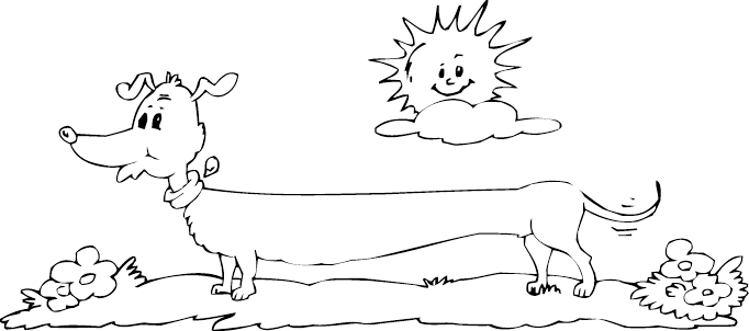 dachshund coloring pictures dachshund coloring page coloringcom dachshund coloring pictures