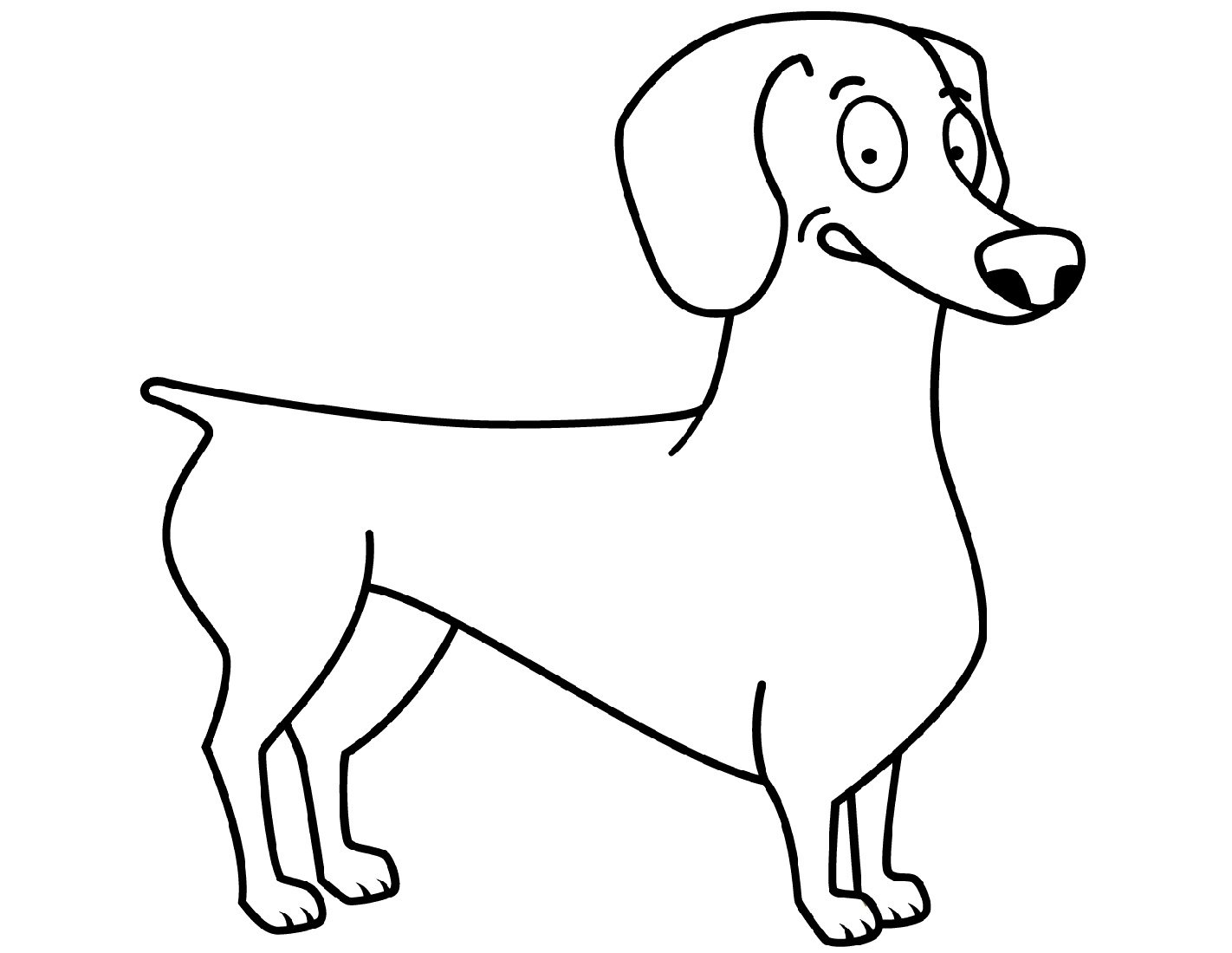 dachshund coloring pictures dachshund coloring pages at getcoloringscom free coloring pictures dachshund