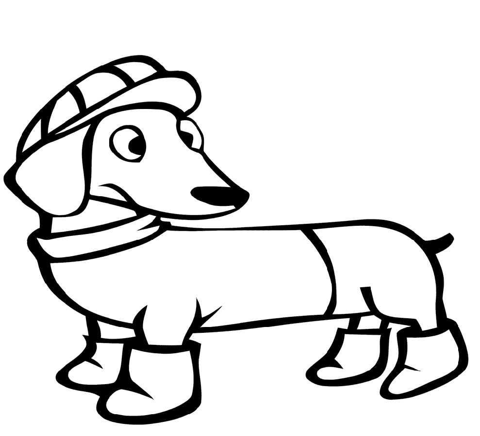 Dachshund coloring pictures