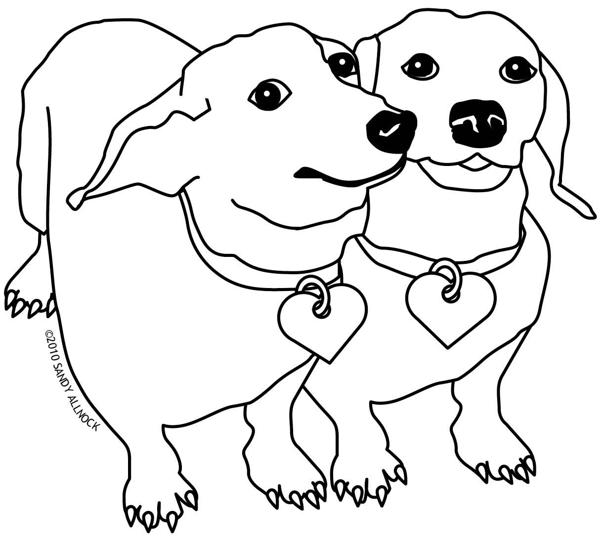 dachshund coloring pictures st bernard coloring pages at getcoloringscom free dachshund coloring pictures