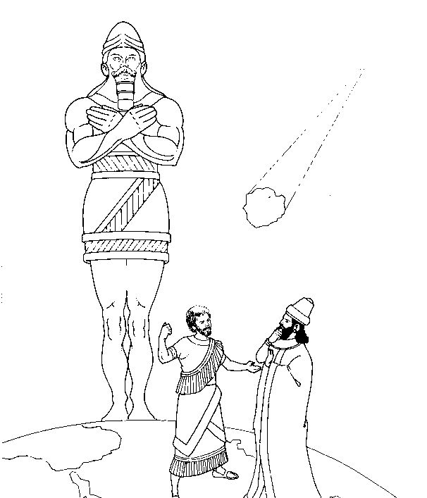 daniel and king nebuchadnezzar coloring pages king nebuchadnezzar39s dream poster sundayschoolist pages king coloring daniel and nebuchadnezzar