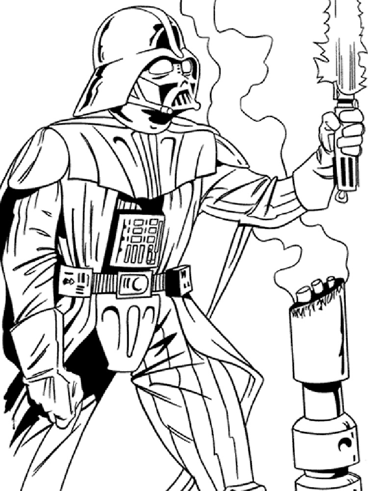 darth vader coloring pages the terrifying darth vader with light saber in star wars pages coloring darth vader