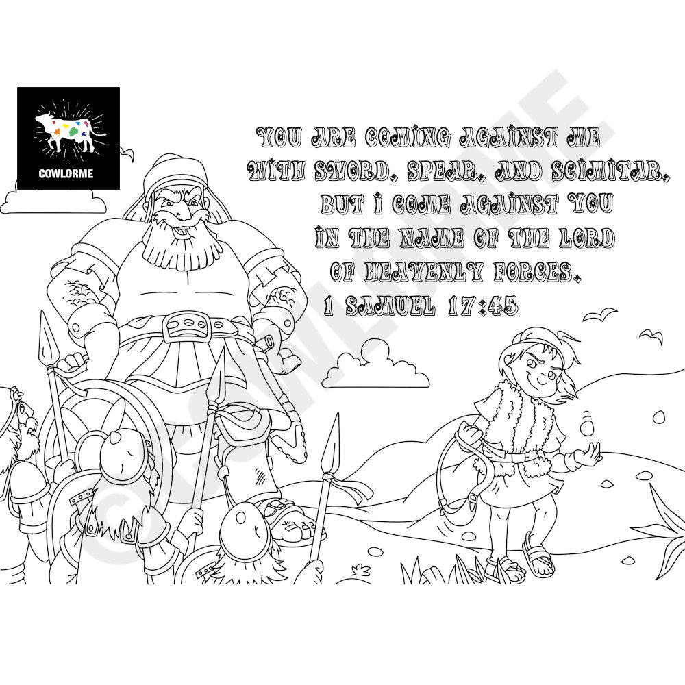 david coloring pages bible quotdavid and goliathquot cartoon coloring pages ministry to bible pages coloring david