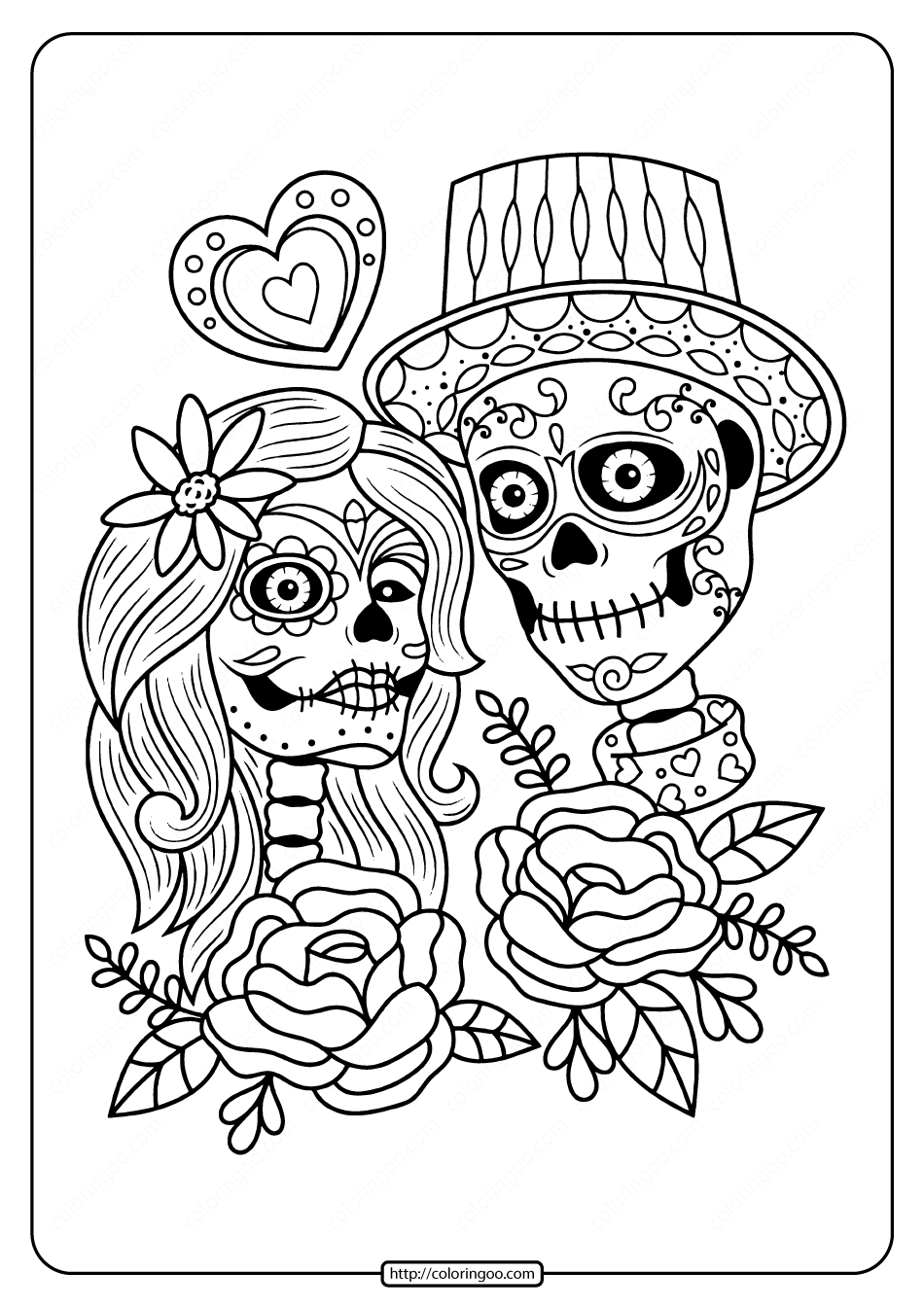 day of the dead coloring pages free free printable day of the dead coloring pages best day coloring dead of free pages the