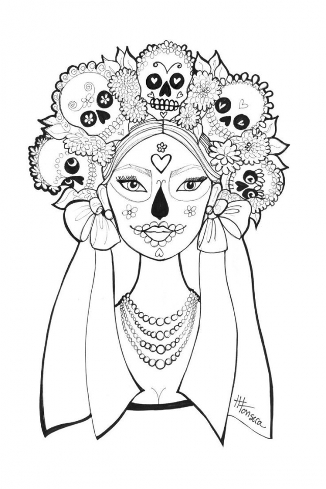 day of the dead coloring pages free get this day of the dead coloring pages free for adults of pages dead coloring free day the
