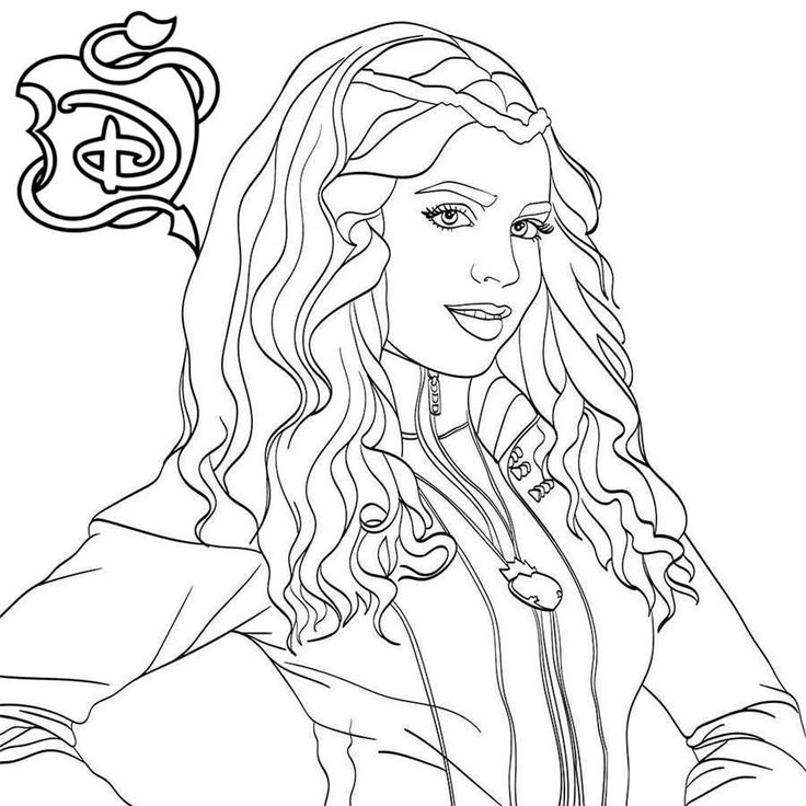 descendants coloring pages mal and evie descendants 2 coloring pages new collection descendants evie mal descendants and coloring pages