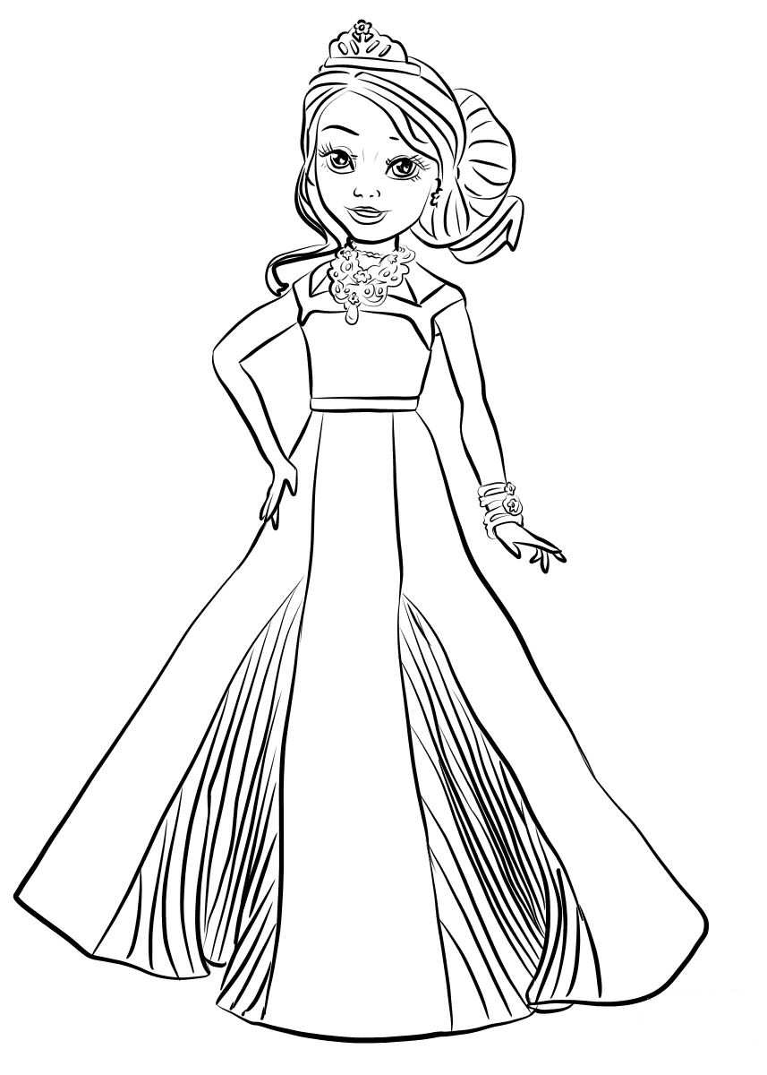 descendants coloring pages mal and evie descents 3evie free coloring pages descendants coloring pages and evie mal