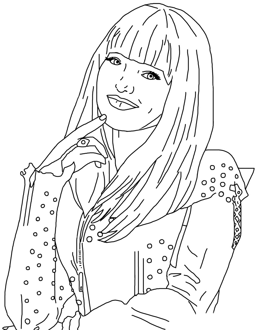 descendants coloring pages mal and evie disney descendants evie coloring pages at getcoloringscom and coloring evie pages descendants mal