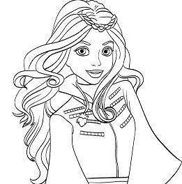descendants coloring pages mal and evie disney descendants evie coloring pages at getcoloringscom mal coloring and descendants pages evie