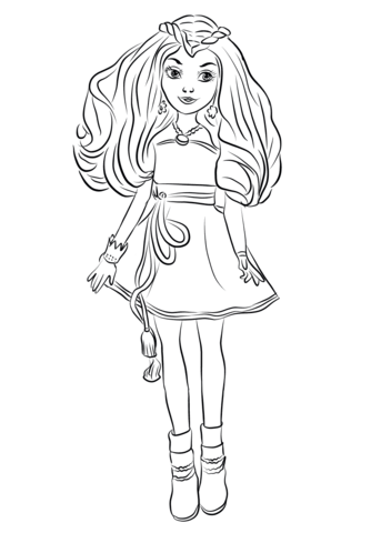 descendants coloring pages mal and evie disney descendants evie coloring pages at getcoloringscom pages evie descendants coloring and mal
