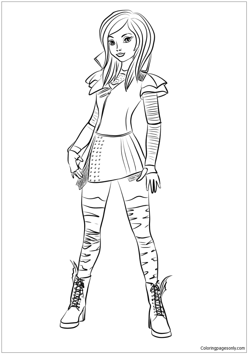 descendants coloring pages mal and evie evie descendants coloring pages at getdrawings free download and mal evie coloring pages descendants