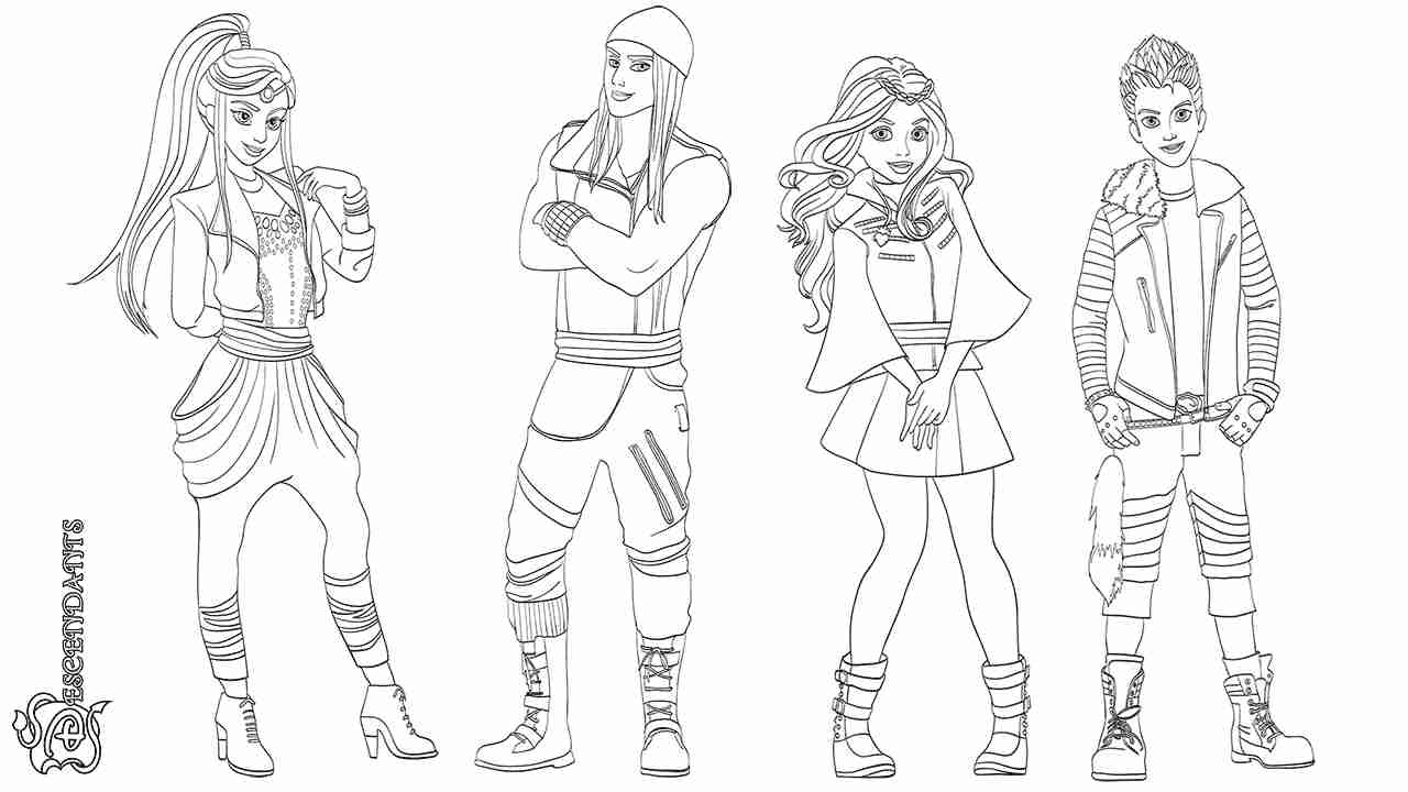 descendants coloring pages mal and evie mal and evie from descendants coloring pages coloring pages and pages mal descendants evie coloring