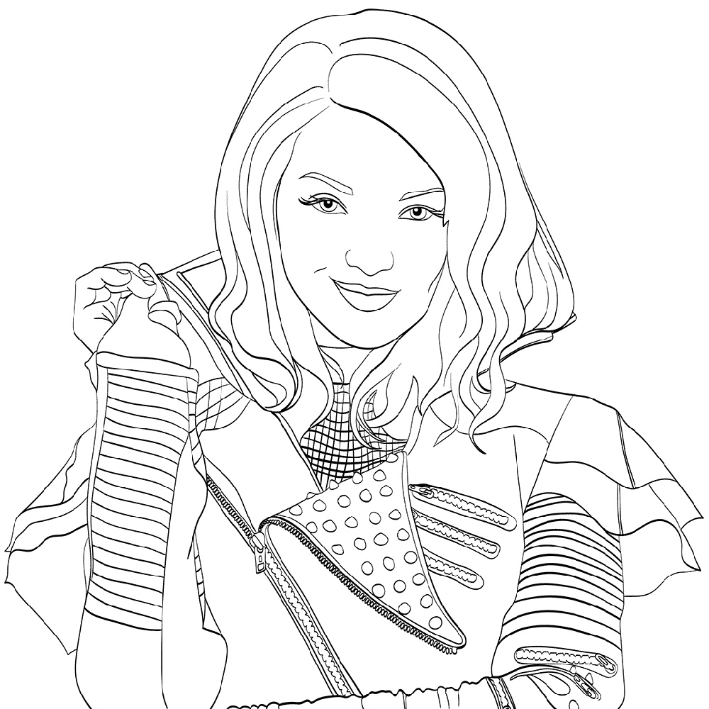descendants coloring pages mal and evie top 100 disney descendants coloring sheets cool wallpaper descendants mal pages evie and coloring