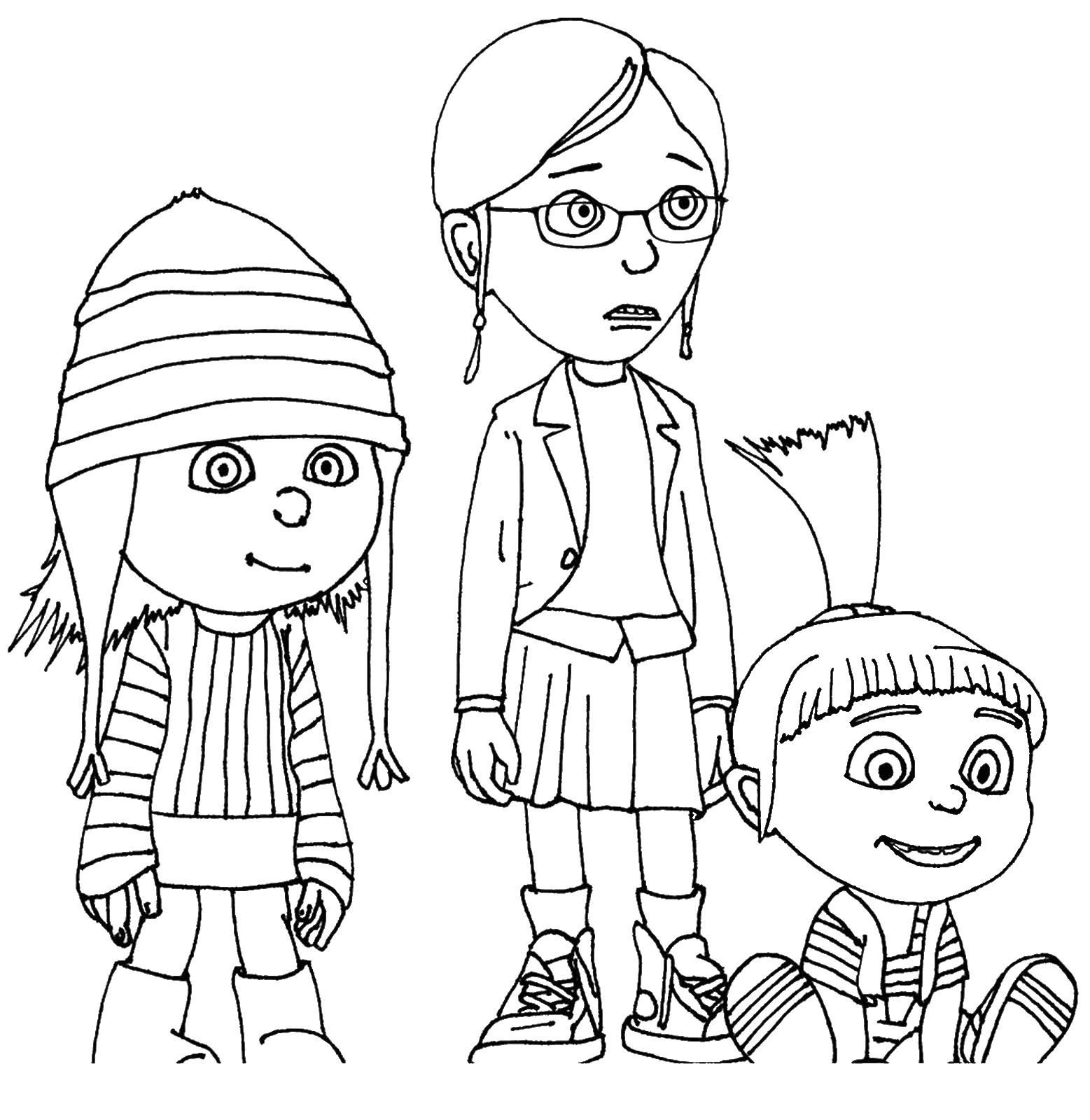 Despicable me coloring pictures
