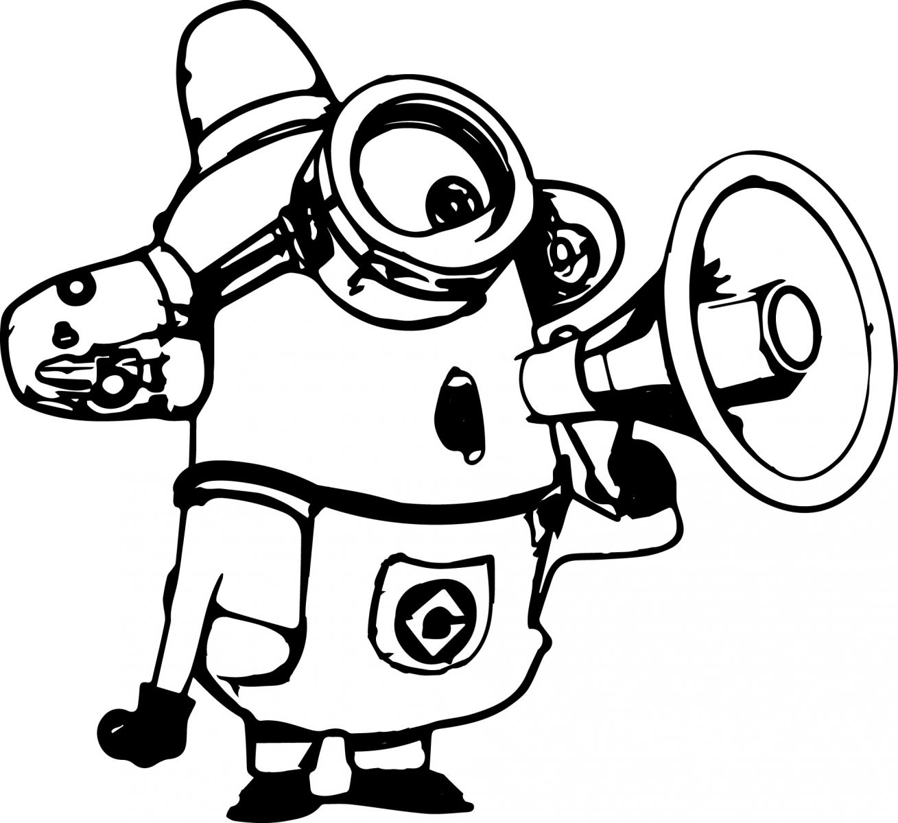 despicable me coloring pictures despicable me smiling minion coloring page for kids coloring despicable pictures me