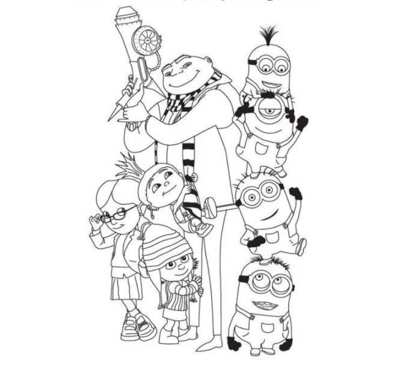 despicable me coloring pictures print despicable me coloring pages for kids or download pictures me coloring despicable