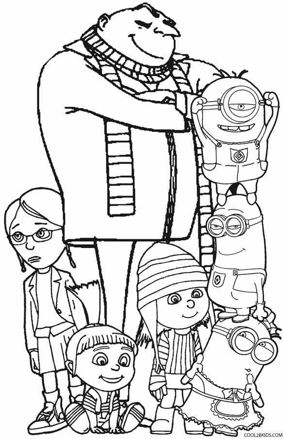 despicable me coloring pictures printable despicable me coloring pages for kids despicable me pictures coloring