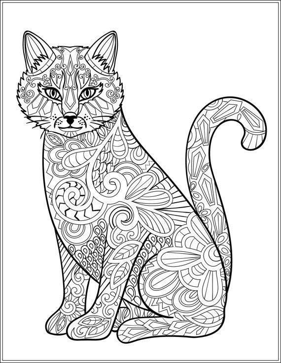 detailed cat coloring pages cats coloring pages printable cat coloring pages detailed