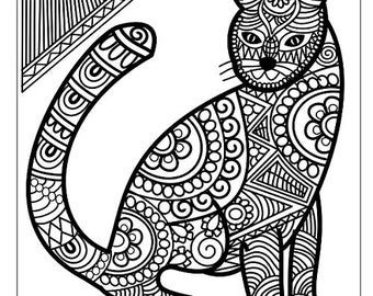 detailed cat coloring pages cats coloring pages printable detailed cat coloring pages