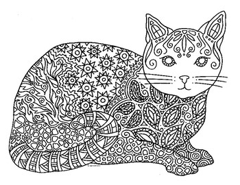 detailed cat coloring pages detailed cat coloring pages for adults sketch coloring page detailed cat coloring pages
