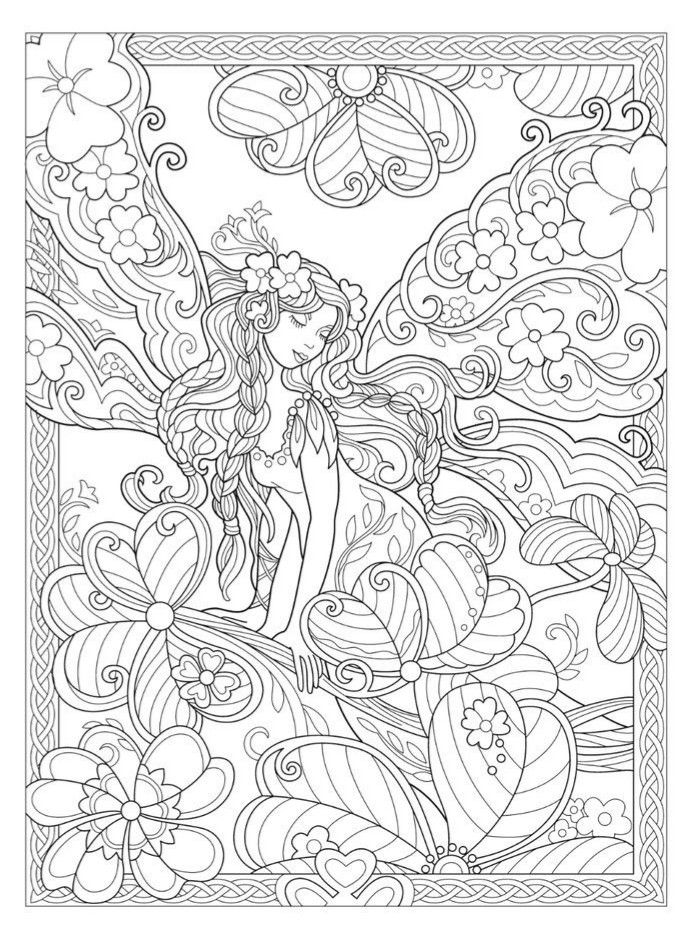 detailed complex fairy coloring pages advanced fairy coloring pages bing images fairy coloring fairy complex detailed pages