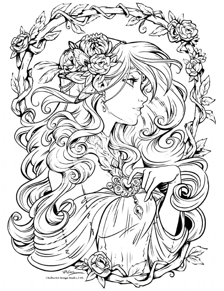detailed complex fairy coloring pages coloring pages fairies free printable coloring pages free complex coloring pages detailed fairy
