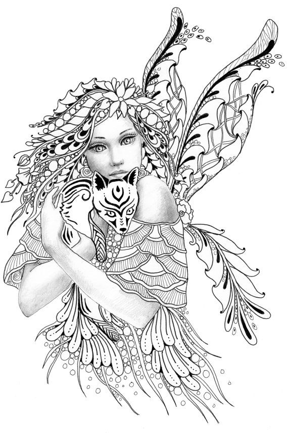 detailed complex fairy coloring pages detailed complex fairy coloring pages detailed complex coloring fairy pages