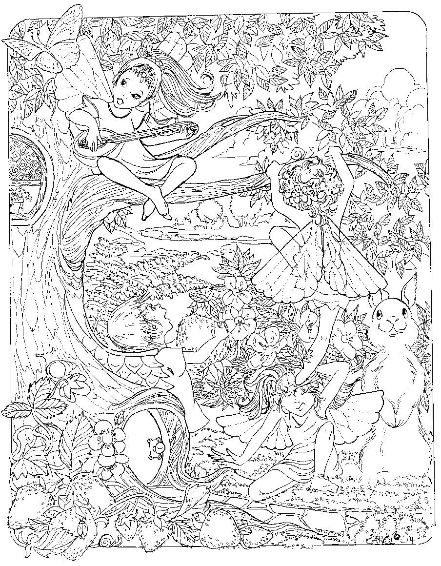 detailed complex fairy coloring pages detailed fairy coloring pages for adults coloring pages complex detailed coloring fairy pages
