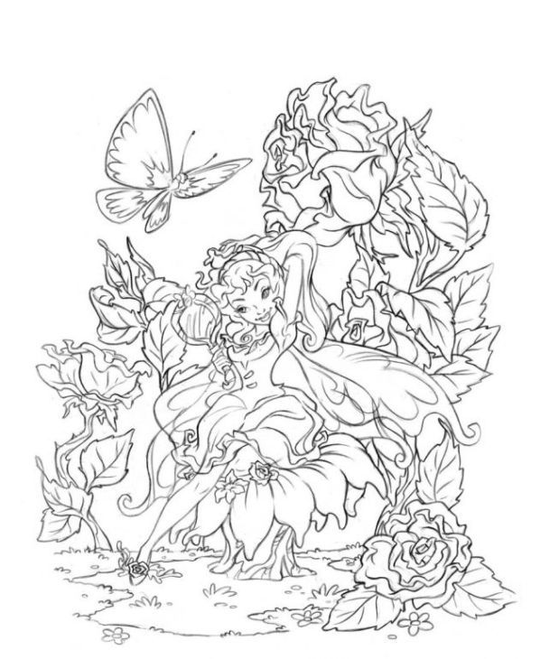 detailed complex fairy coloring pages fairy coloring pages for adults to download and print for coloring complex fairy pages detailed