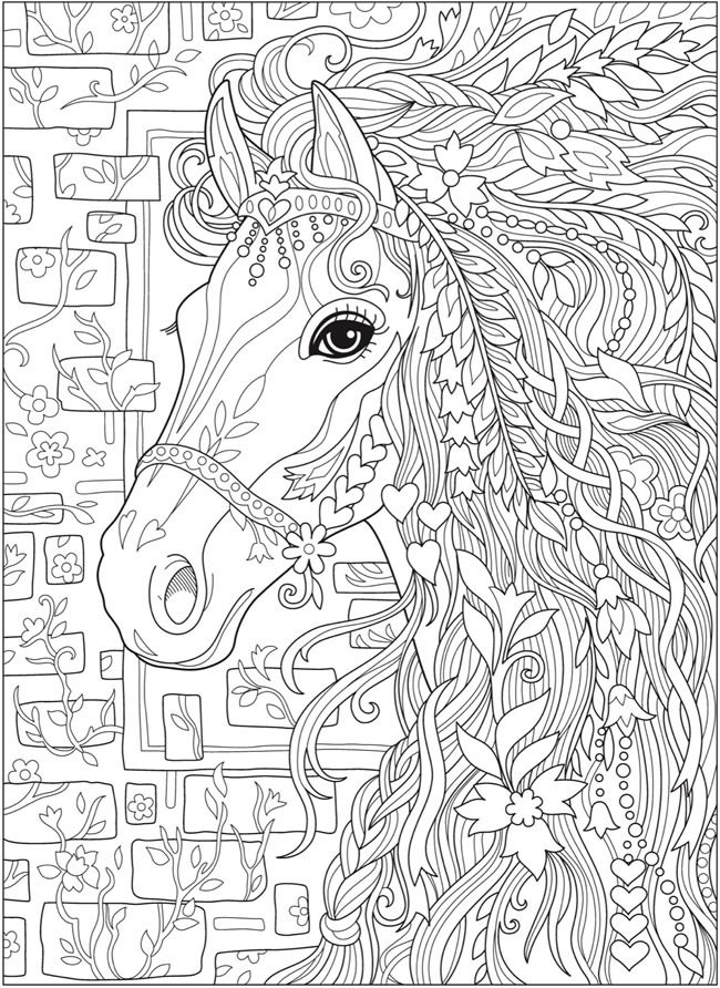 detailed horse coloring pages 25 unika horse coloring pages idéer på pinterest adult detailed horse coloring pages