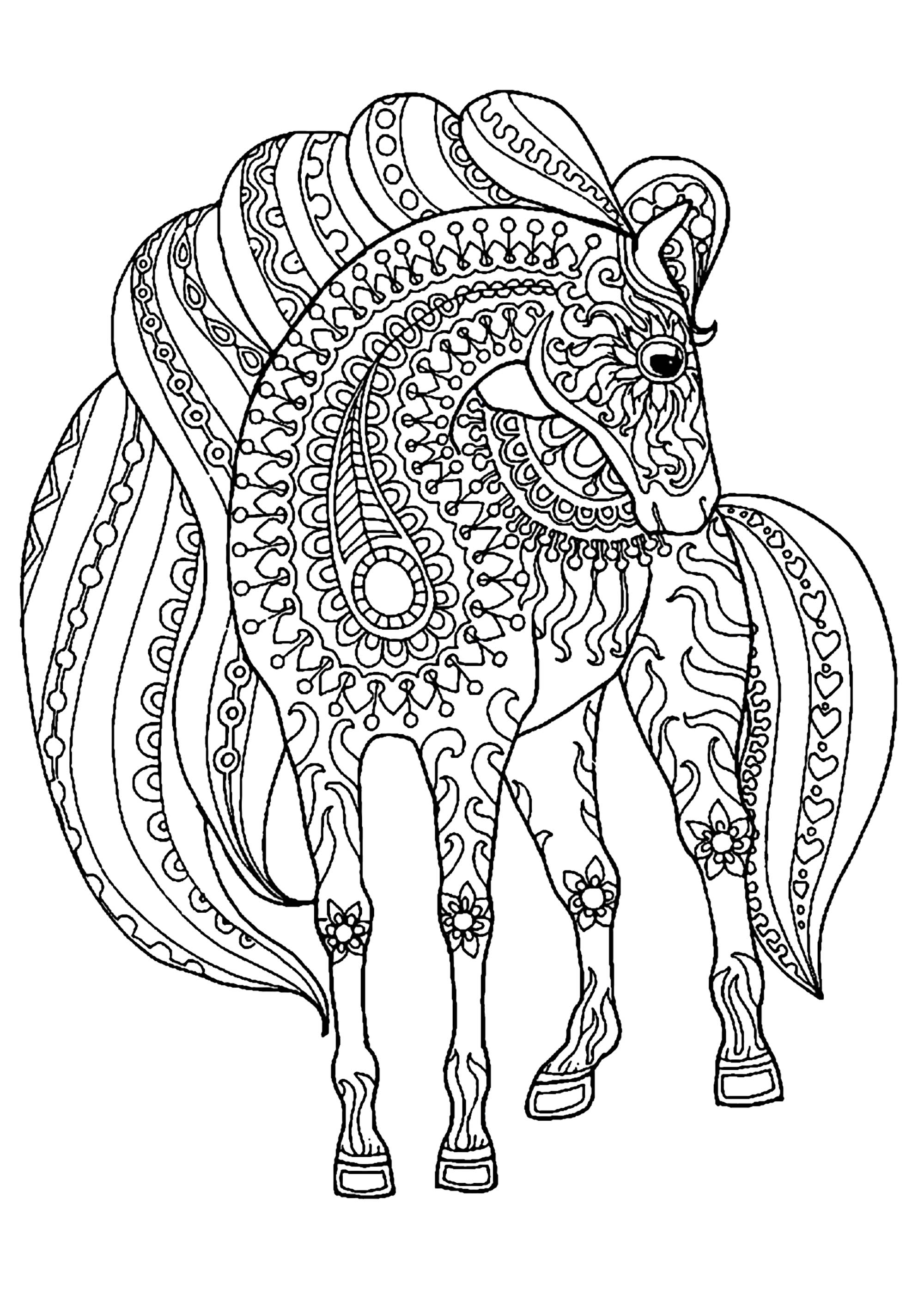 detailed horse coloring pages detailed horse drawing at getdrawings free download pages coloring detailed horse