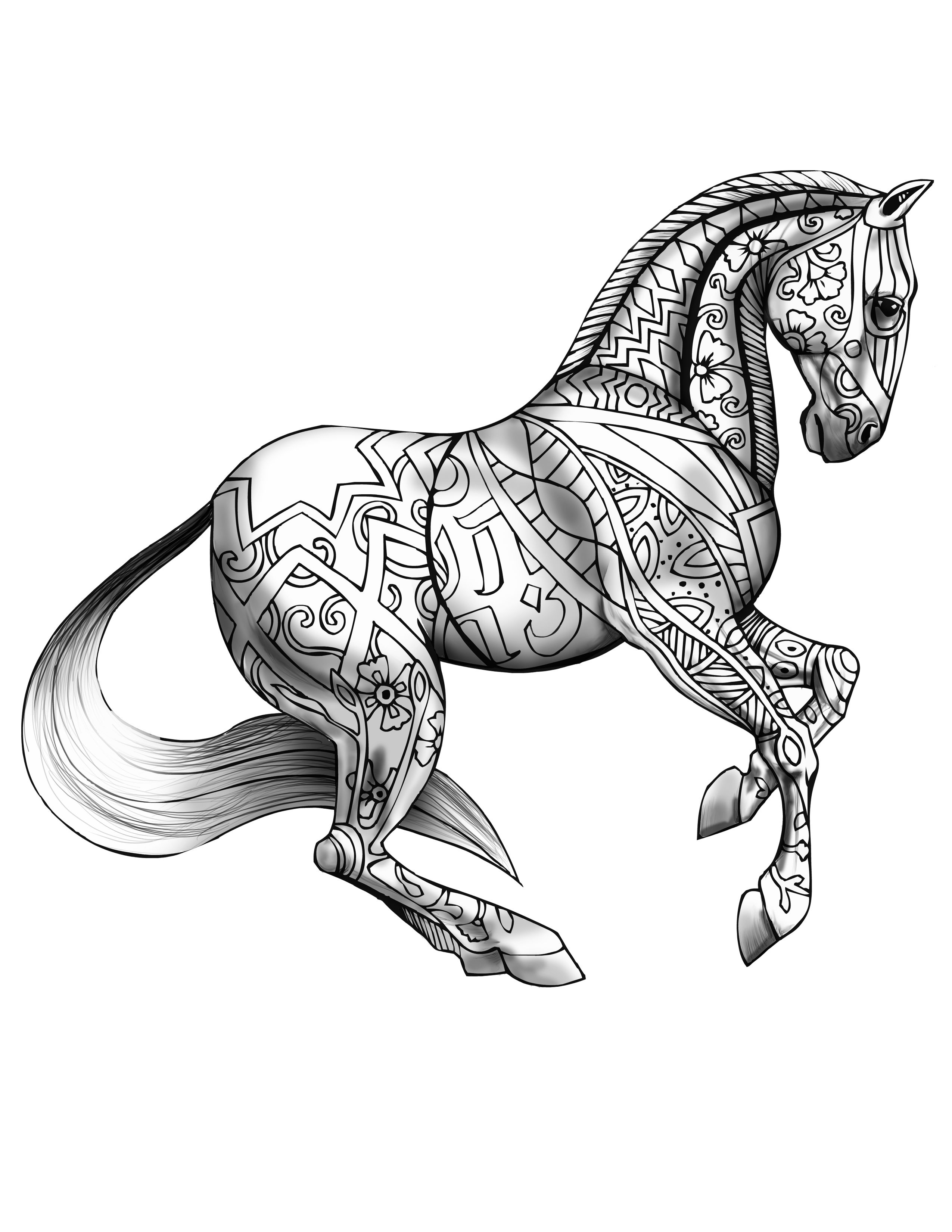 detailed horse coloring pages horse coloring pages getcoloringpagesorg coloring detailed pages horse